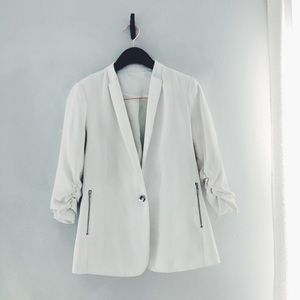 Missguided Rouched Sleeve Blazer w/zippers size S